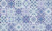 Elemantel 42013 2 Mavi Çok Çeşit Motif Desenli Duvar Kağıdı