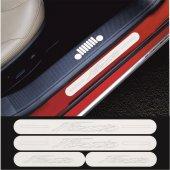 Ford Fiesta Krom Aynalı Pleksi Kapı Eşiği (4 Lü Set)