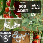 Bitki Klipsi (500 Adet) 25 Mm Domates Klipsi Biber Klipsi
