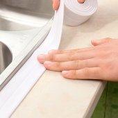Beyaz Su Sızdırmaz Lavabo Kenar Bandı 3.2m