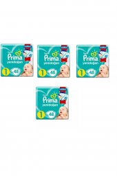 Prima Bebek Bezi Aktif Bebek 1 Beden 192 Adet Standard Paket