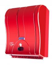 Palex 3491 B Prestij Otomatik Havlu Dispenseri 21 Cm Kırmızı