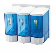 Palex 3566 2 Mini Sıvı Sabun Dispenseri 250 Ccx3 Krom Şeffaf