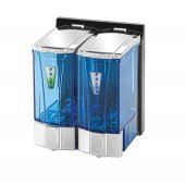 Palex 3564 2 Mini Sıvı Sabun Dispenseri 250 Ccx2 Krom Şeffaf