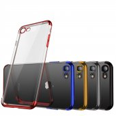 Iphone 7 8 Dört Köşe Lazer Silikon Kapak Kılıf...