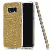 Samsung S8 Plus (G955) 3in1 Simli Silikon Arka Kapak Gold