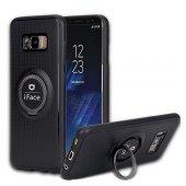 Samsung Galaxy S8 Plus (G955) iFace Yüzük Tutuculu Arka Kapak Halka-Gri