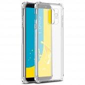 Samsung J6 Plus (J610) Köşe Korumalı Şeffaf Silikon Arka Kapak