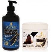 Lyonsey Kara Sarımsak Şampuanı 400 Ml + Keratin...
