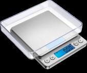 Diamond Dijital Göstergeli Kare Laboratuvar Ve Kuyumcu Hassas Terazi (2 Kg 0.1 500 Gr 0.01)