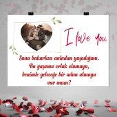 Kişiye Özel Fotoğraf Baskılı Kalpli Evlilik...