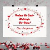 Kırmızı Kalp Yıldız Baskılı Evlilik Teklifi...