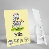 Zebra Konseptli Bir Yaş Künyesi Doğum Günü...