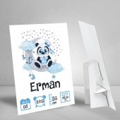 Panda Konseptli Bir Yaş Künyesi Doğum Günü...