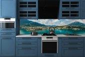 Mutfak Tezgah Arası Göl Dağ Manzara