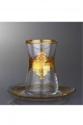 Paşabahçe Nida Gold 6 Kişilik Çay Takımı