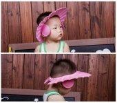 Bebek Banyo Şapkası Düğmeli Kulaklıklı Pembe...