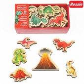 Rossie Mıknatıslı Ahşap Dinozorlar
