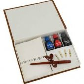 Steelpen Calligraphy Pen Set Ahşap & Zarflı Ve 3 Renk Mürekkep Cs 1228 Steelpen Calligraphy Pen Set Ahşap&zarflı Ve 3 Renk Mürekkep