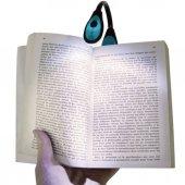 Kitap Okuma Lambası Kıskaçlı Işık Pilli Aydınlatma Işığı
