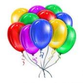 100lü Karişik Metalik Renkli Düz Balon 12 Inc