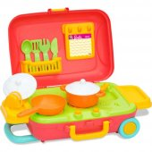 Dede Barbie Tekerlekli Çekmeli Bavul 15 Prç Mutfak Seti 03478