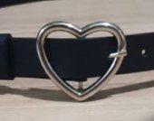 Kalp Tokalı Kadın Kemer Gümüş R39