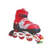 Triathlon T144 Işıklı Paten 38 41 Kırmızı