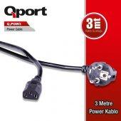 Qport Q Pow3 3metre Monitör Power Kablosu