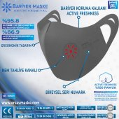 Antimikrobiyal Maske Gri Yetişkin/KIRMIZI/2Lİ PAK