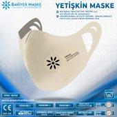 Antimikrobiyal Maske Beyaz Yetişkin Sıyah 2li...