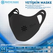 Antimikrobiyal Maske Siyah Yetişkin Sıyah 5li...