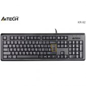 A4 Tech Kr 92 Q Usb Klavye Multimedya Siyah
