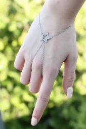 Yıldız Figürlü Zirkon Taşlı Silver Renkli Şahmeran Bileklik