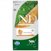 N&D Tahılsız Balıklı ve Portakallı 10 kg Yetişkin Kuru Kedi MAMASI