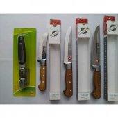 Cavit Kurban Bıçak Seti İnox 4lü Metal Bilezikli