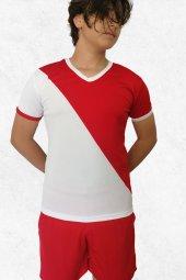 Modapalace Kırmızı Beyaz Spor Tişört