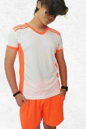 Modapalace Omzu Turuncu Şerit Detaylı Spor Tişört