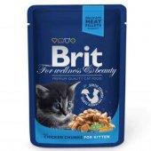 Brit Premium Chunks Kitten Tavuklu Yavru Kedi...