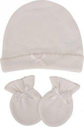 Sevi Bebe 99 Şapka Eldiven Takımı Ekru