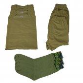 Asker Malzemeleri Atlet Külot Havlu Çorap Takım 3 Er Adet Takım