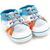 Funny Baby 7047 İlk Adım Ayakkabısı Beyaz Turuncu No 18 19