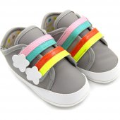 Funny Baby 7009 İlk Adım Ayakkabısı Cırtlı Gri No 17 18