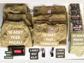 Askeri Set Malzeme Seti Acemi Ve Bedelli Asker İhtiyaçları Askeri Atlet Külot Çorap Mevsimlik 63 Lü