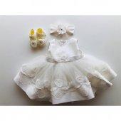 Bibaby Güllü Kız Bebek Mevlüt Takımı Ekru 67018