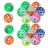 Ans Sesli Çanlı Renkli Kedi Oyun Topları 8 Li Set