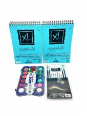 Canson Xl A4 Aquarelle 300gr 30yp (2 Adet) +...
