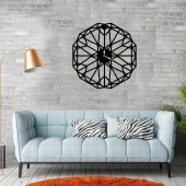 Modern Altıgen Ahşap Duvar Saati