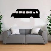 Otobüs Temalı Ahşap Tablo