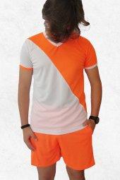 Modapalace Turuncu Beyaz Modelli Spor Tişört